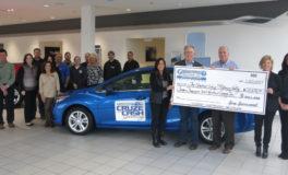 Greenwood Chevy Donates $12,000 to United Way