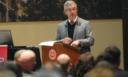 Tressel Addresses Communications at YSU Town Hall