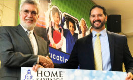 Home Savings Presents Check to Education Partnership