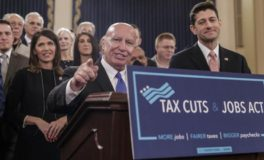 Local Response to Tax Reform Bill Follows Party Lines