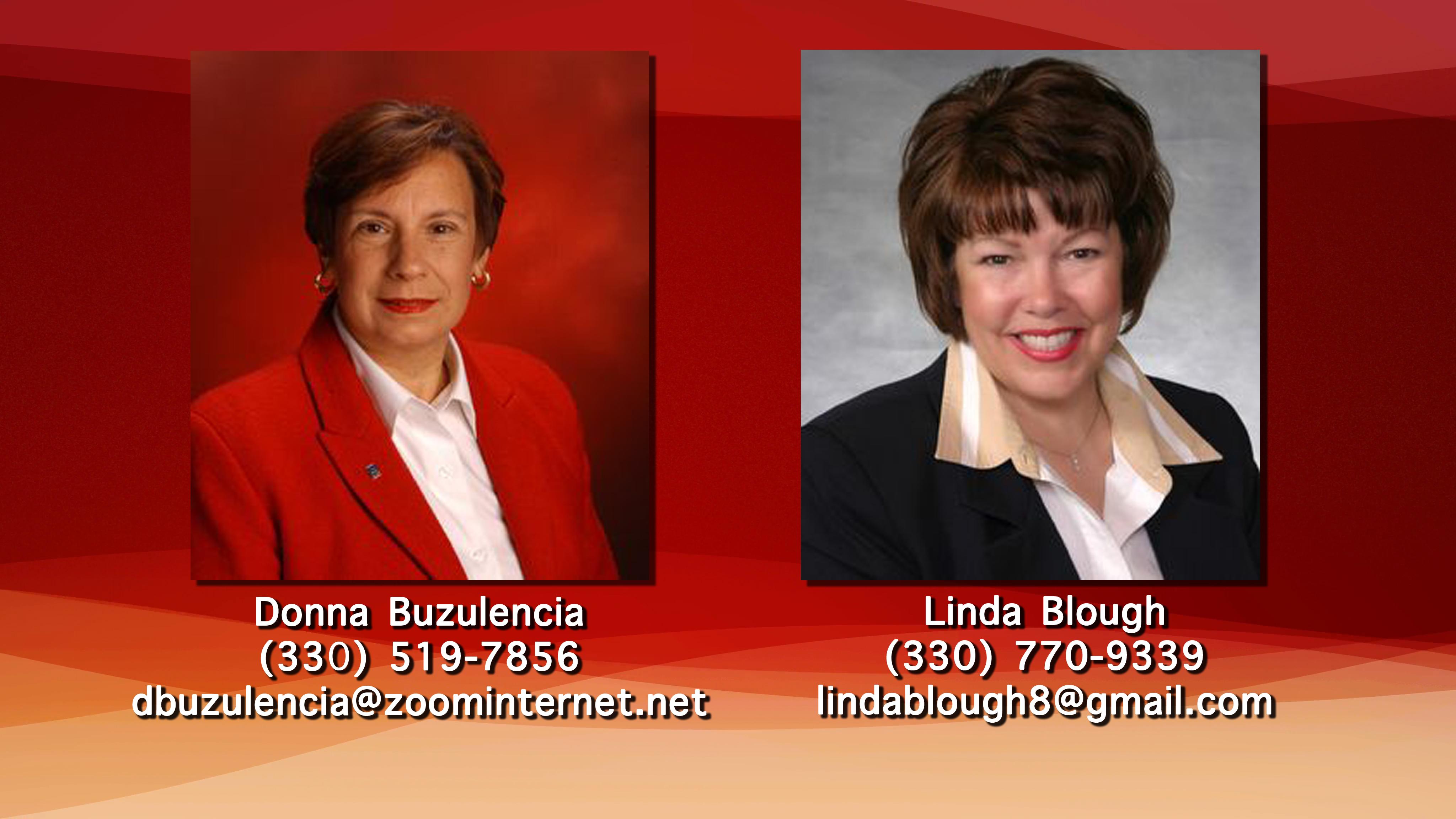 Donna Buzulencia & Linda Blough