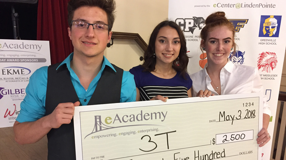 3T is a startup business run by high school students and launched within the confines of the Entrepreneurship Academy, or eAcademy, a program administered by the eCenter@LindenPointe in Hermitage.