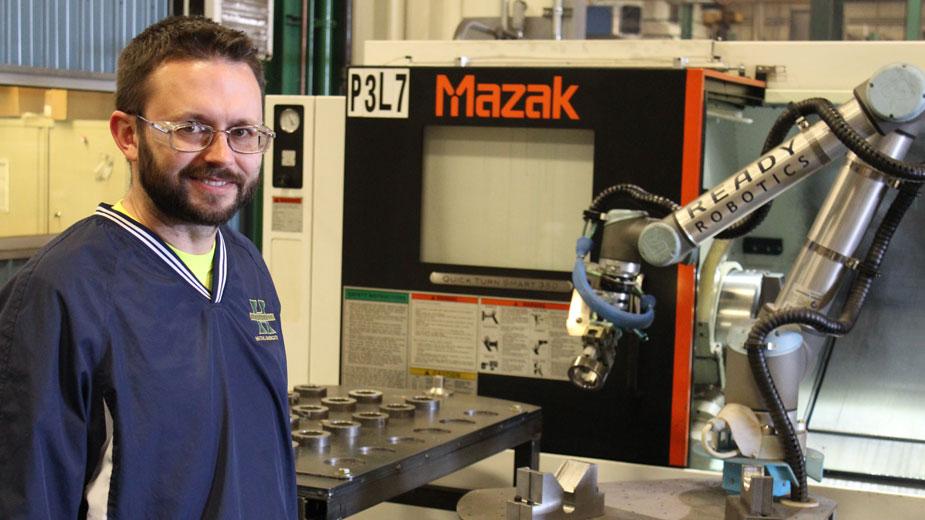 Hickey Metal Fab material-handling robot