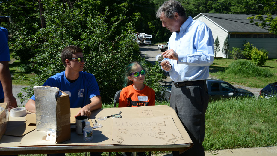 U.S. Sen. Sherrod Brown met with Summer Manufacturing Camp students on Monday at KTSDI Vehicle Solutions