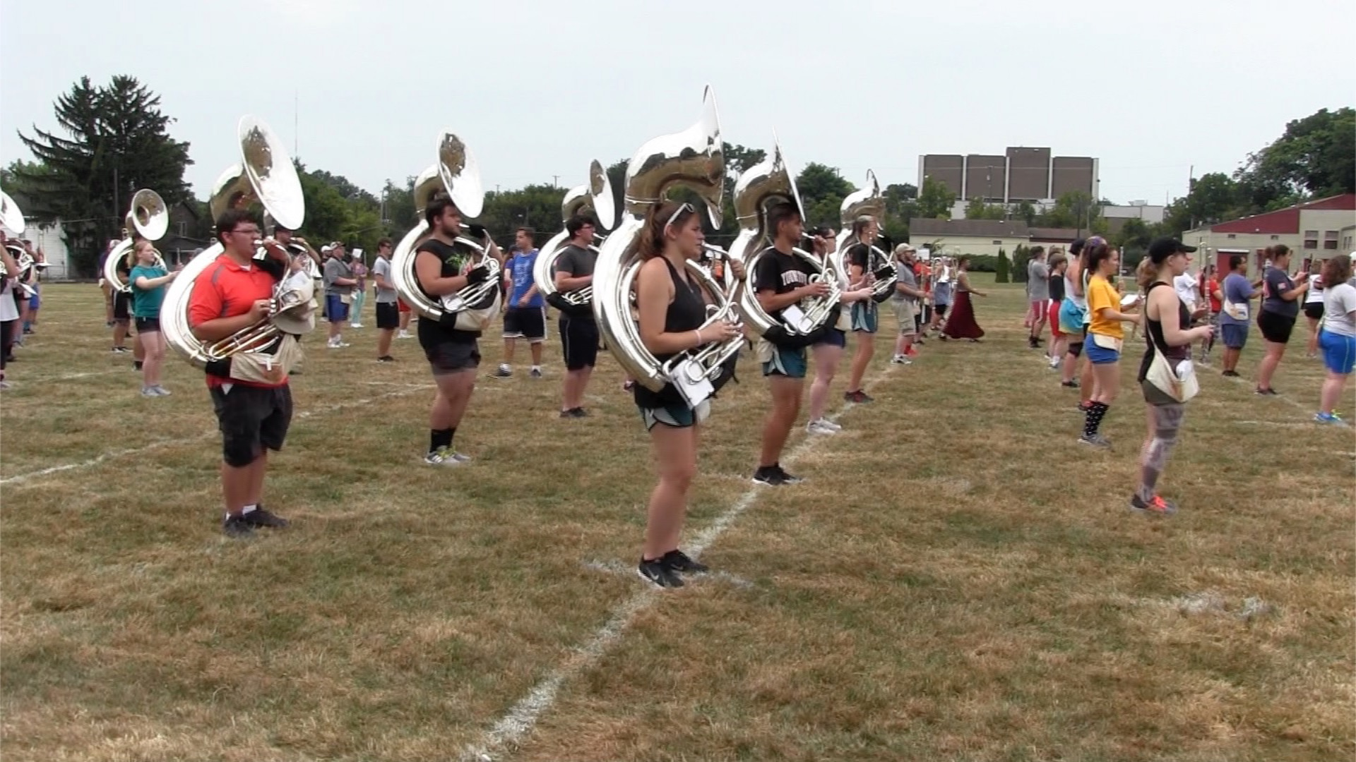 Marching Band Boosts Penguin Pride