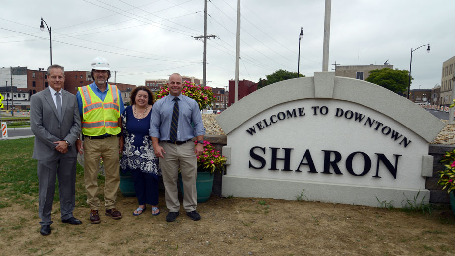 New Roundabout Eases Travel in Downtown Sharon