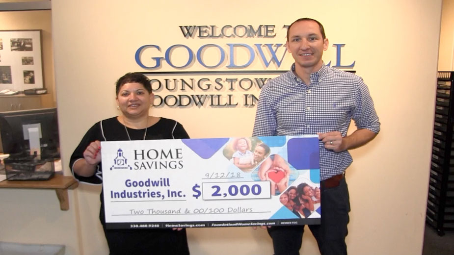 Home Savings Donates $2K to Goodwill Industries