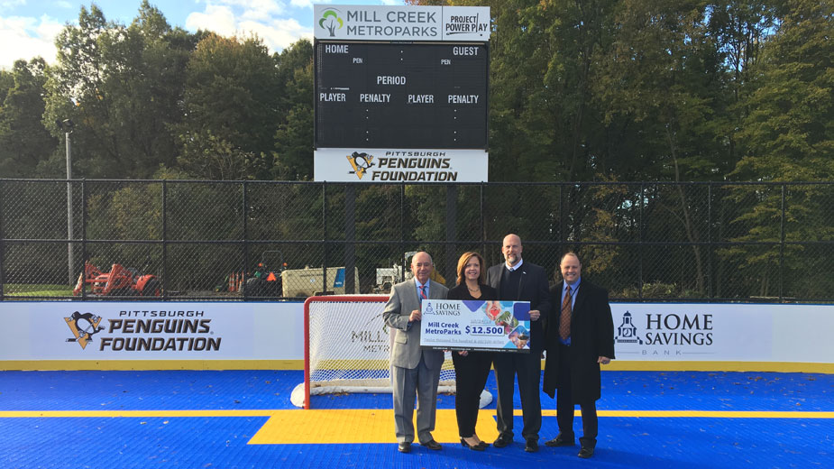 Home Savings Gives $12,500 to Dek Hockey Rink - Business