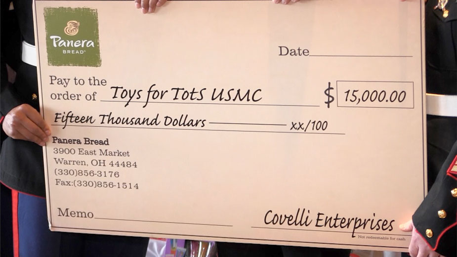 Toys for Tots Receives $15,000 Check