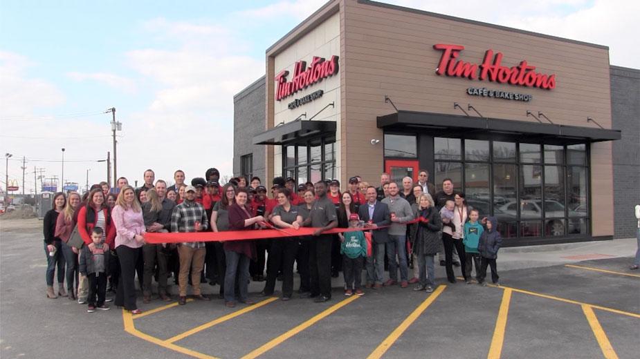 Tim Hortons Celebrates with Ribbon Cutting