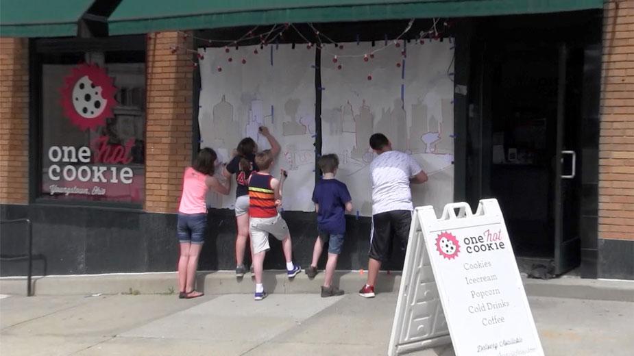 Smarts Kids Paint Downtown Windows