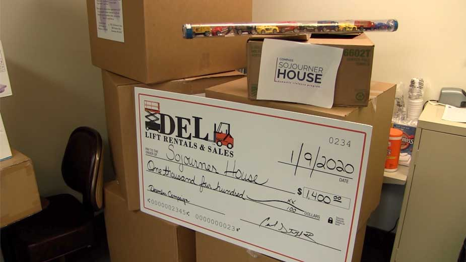 Sojourner House Receives $1,400 Donation