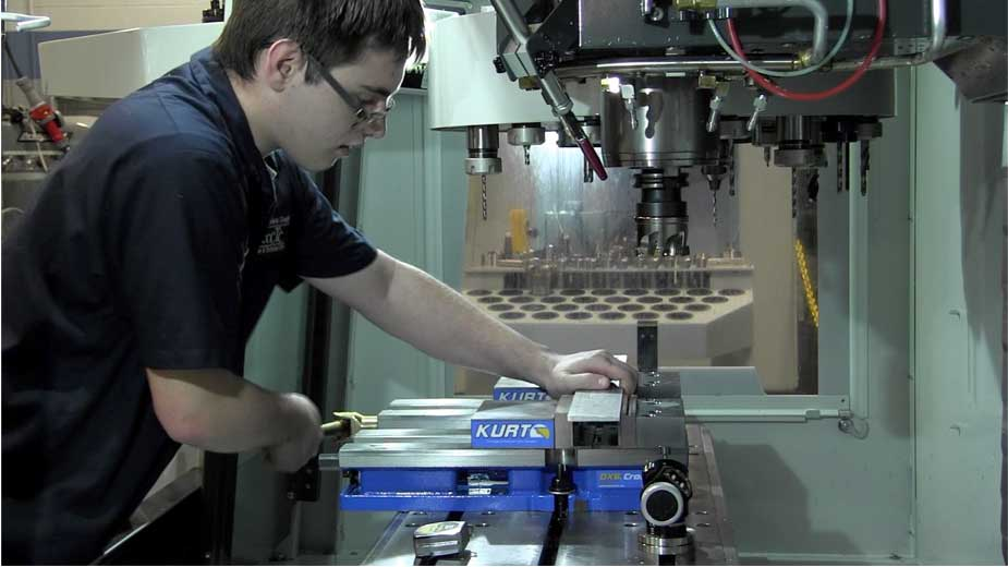 CCCTC Cut Ribbon on Machining Lab