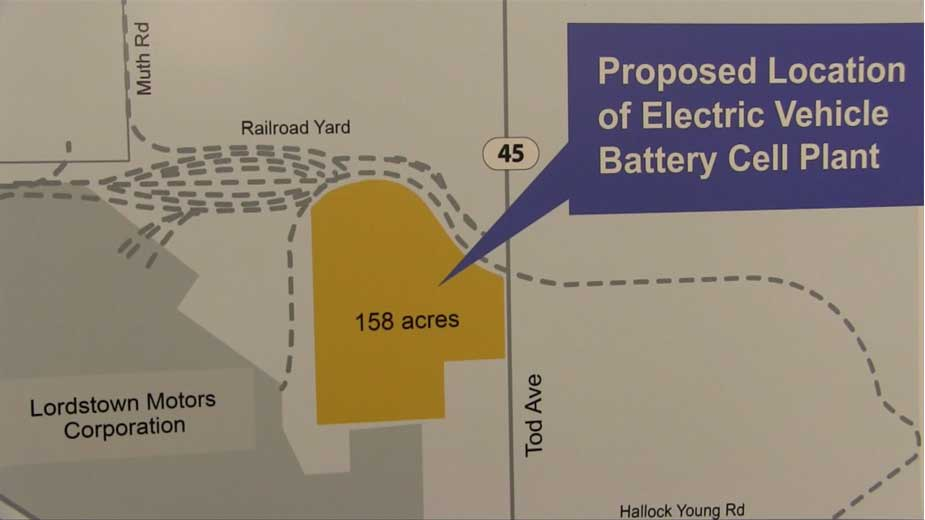 Planning Underway for Proposed EV Battery Cell Plant