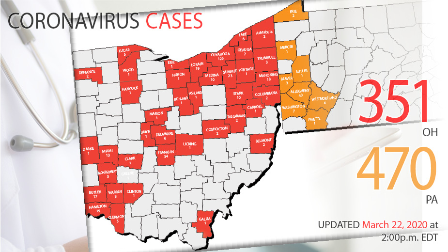 Coronavirus Cases Update March 22 2020 Business Journal Daily The Youngstown Publishing Company