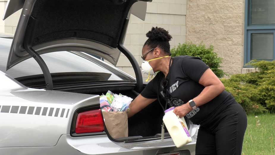 Volney Rogers Adjusts to Food Distribution