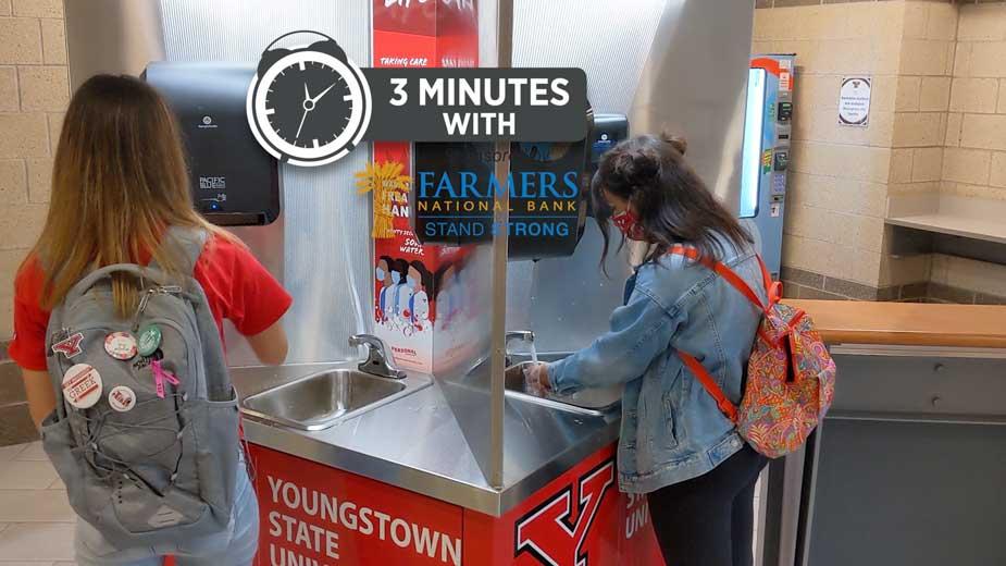 YSU Installs Hand-Washing Stations Across Campus