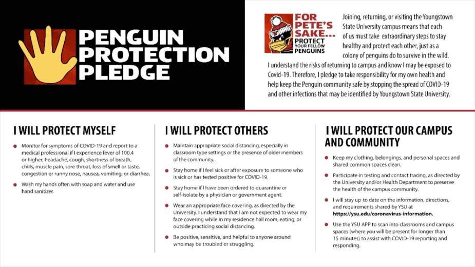 YSU's Penguin Protection Pledge